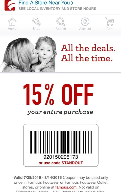 Famous Footwear Buy One Get One 50 Off 15 Off Coupon