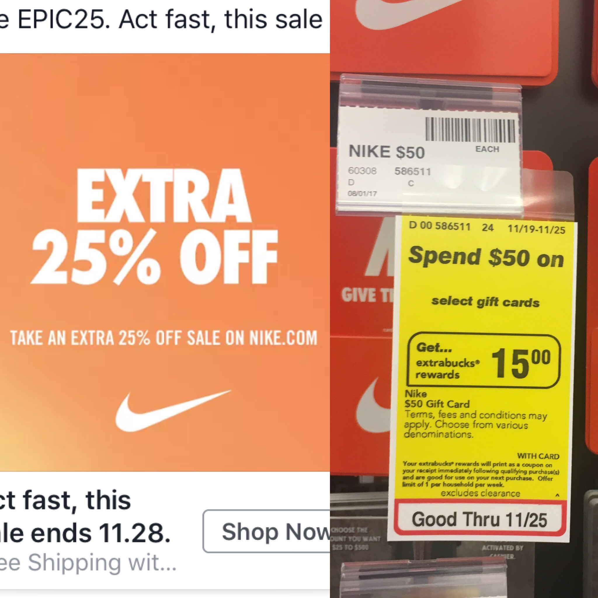 Great Deal on Nike Merchandise With CVS Gift Card and Nike Promo ...