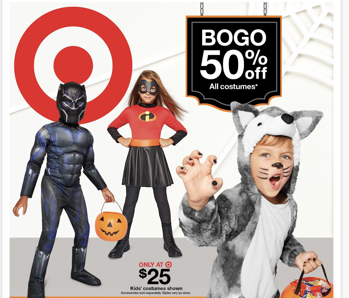 halloween costumes buy one get one 50% off at target! pantry overflow